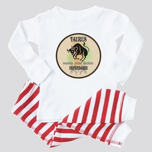 Dependable Taurus Baby Blue Stripe Pajamas