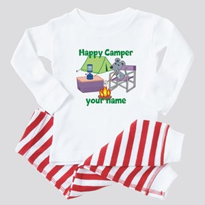 Custom Happy Camper Mouse Baby Pajamas
