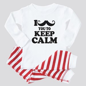 I Mustache You To Carry On Baby Pajamas