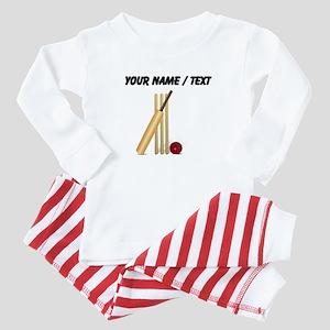 Custom Cricket Wicket Baby Pajamas