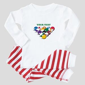 Personalized Billiard Balls Baby Pajamas