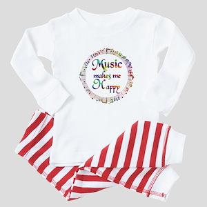 Music makes me Happy Baby Pajamas
