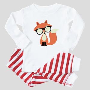 Hipster Red Fox Baby Pajamas