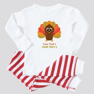 Personalize Little Turkey Baby Pajamas