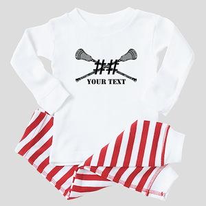Lacrosse Camo Sticks Crossed Personalize Baby Paja