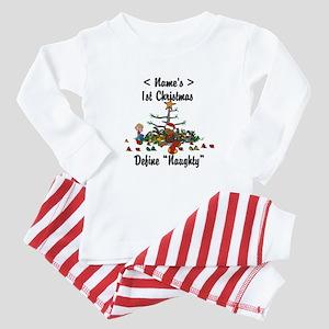 Personalized First Christmas Baby Pajamas