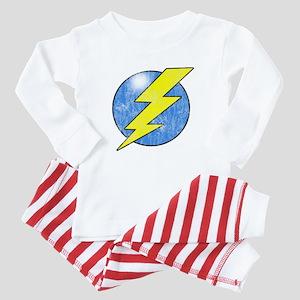 Vintage Sheldon Lightning Bolt 2b Baby Pajamas