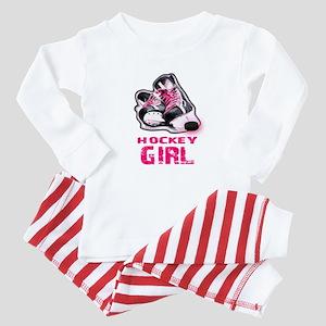 hockey girl Baby Pajamas