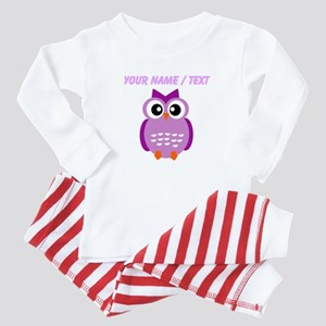 Custom Purple Owl Baby Pajamas