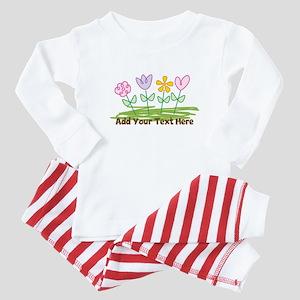 Custom Cute Flowers Baby Pajamas