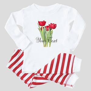 Personalizable Tulips Baby Pajamas