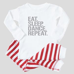 Eat Sleep Dance Repeat Baby Pajamas
