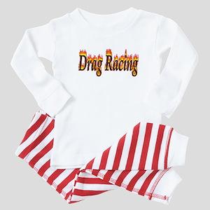 Drag Racing Flame Baby Pajamas