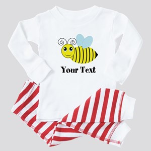 Personalizable Honey Bee Baby Pajamas