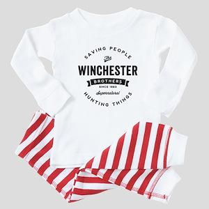 SUPERNATURAL Winchester Bros black Baby Pajamas