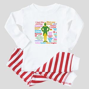 Elf Movie Quotes Baby Pajamas