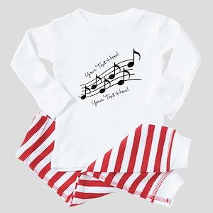Music Notes PERSONALIZED Baby Pajamas