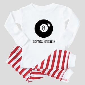 Black Eight Ball (Custom) Baby Pajamas