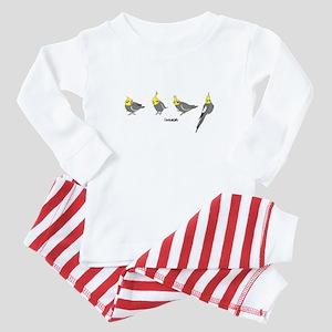 Gray Cockatiels Baby Baby Pajamas