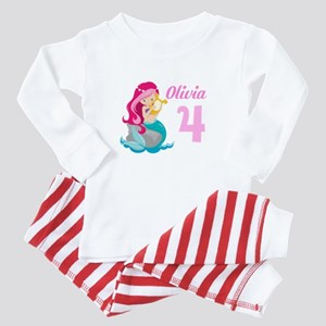 Pink Mermaid Baby Pajamas