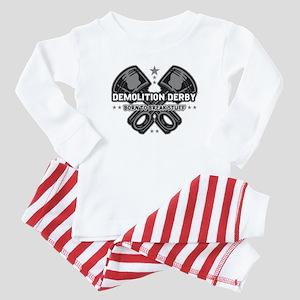 demolition derby born to break Baby Pajamas