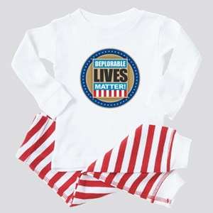 Deplorable Lives Matter Baby Pajamas
