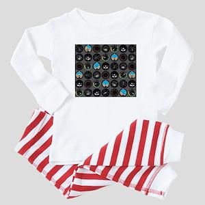 Flight Instruments Baby Pajamas