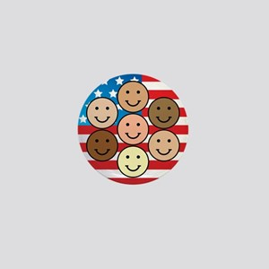 America People of Many Colors Mini Button (100 pac
