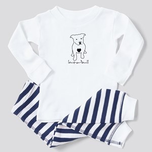 Love-a-Bull Pit Bull Toddler Pajamas