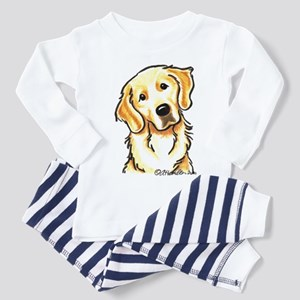 Golden Retriever Portrait Toddler Pajamas