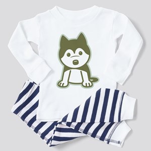 Husky Puppy Toddler Pajamas
