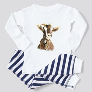 Watercolor Goat Farm Animal Pajamas