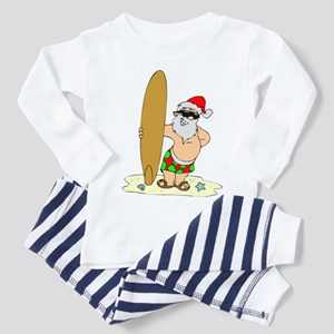 Surfing Santa Toddler Pajamas