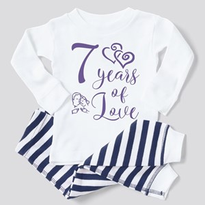 7 Years Of Love 7th Anniversary Gift graph Pajamas