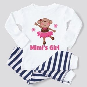Mimi's Girl monkey Toddler Pajamas