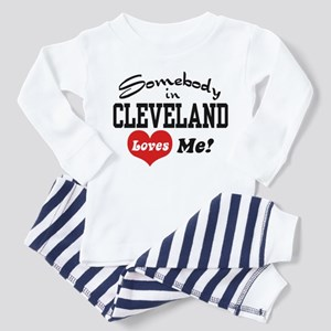 Somebody in Cleveland Loves Me Toddler Pajamas