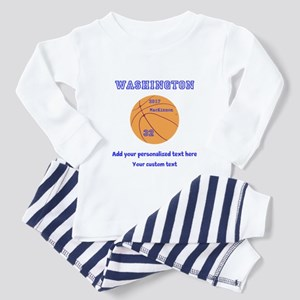Basketball Personalized Toddler Pajamas