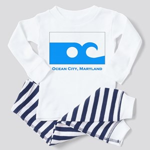 Ocean City MD Flag Toddler Pajamas