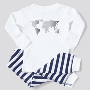 Halftone World Outline Pajamas