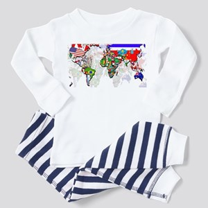 World Flags Map Toddler Pajamas