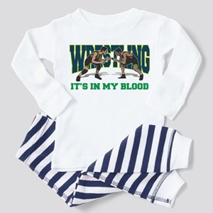 Wrestling It's In My Blood Toddler Pajamas