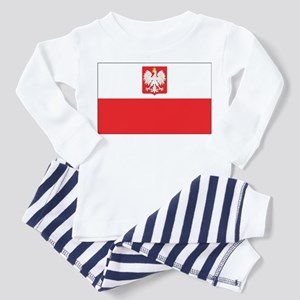 Poland State Flag Toddler Pajamas