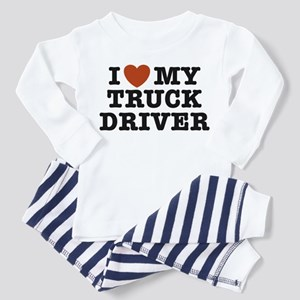 I Love My Truck Driver Toddler Pajamas