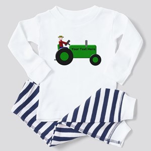 Personalized Green Tractor Toddler Pajamas