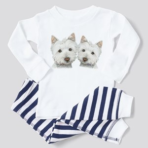 Two Cute West Highland White Dogs Toddler Pajamas