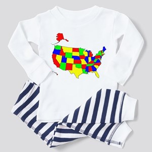 MAP OF AMERICA Toddler Pajamas