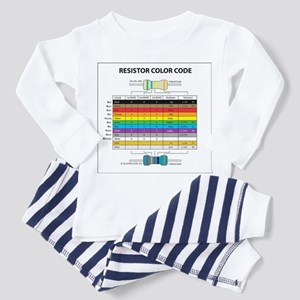 Resistor Color Toddler Pajamas