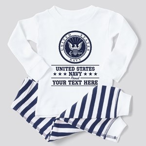U.S. Navy Proud Personalized Toddler Pajamas
