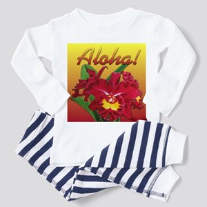 Aloha Orchid Oil on Canvas Toddler Pajamas