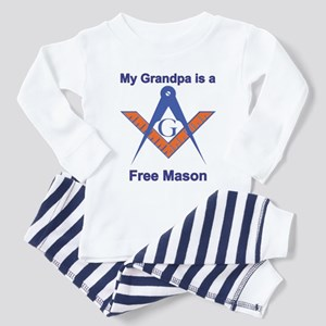 Grandpa is a Free Mason Toddler Pajamas